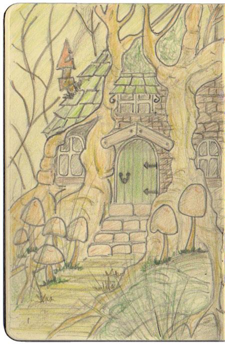 Idee per una storia fantasy la casa del mago michele for La casa tradizionale progetta una storia
