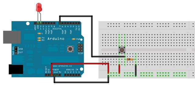 Schemi Elettrici Arduino : Condensatore in parallelo al pulsante
