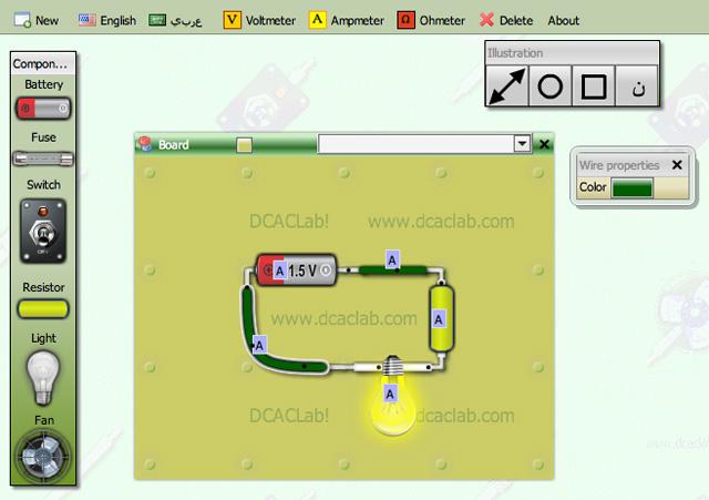 Un semplice simulatore di circuiti elettronici on line