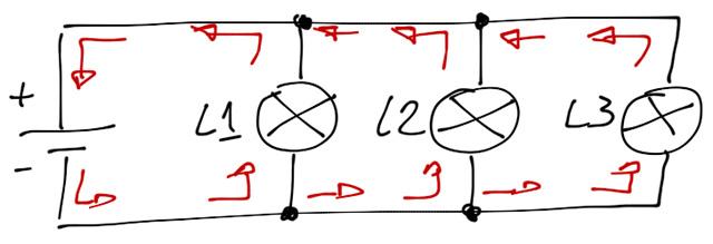 Schema circuito parallelo