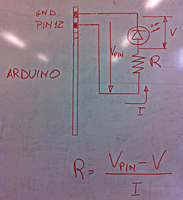 Schema Elettrico Per Accensione Led : Arduino dimensionare la resistenza serie di protezione per un