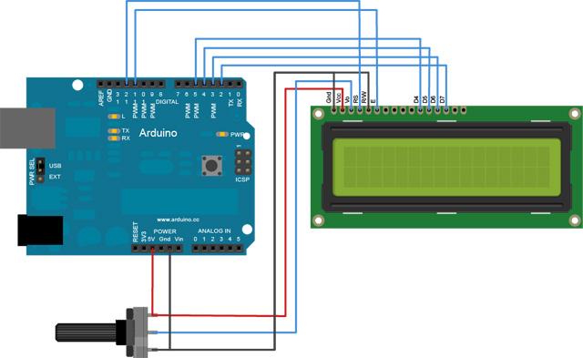 Appunti su arduino pilotare un display lcd