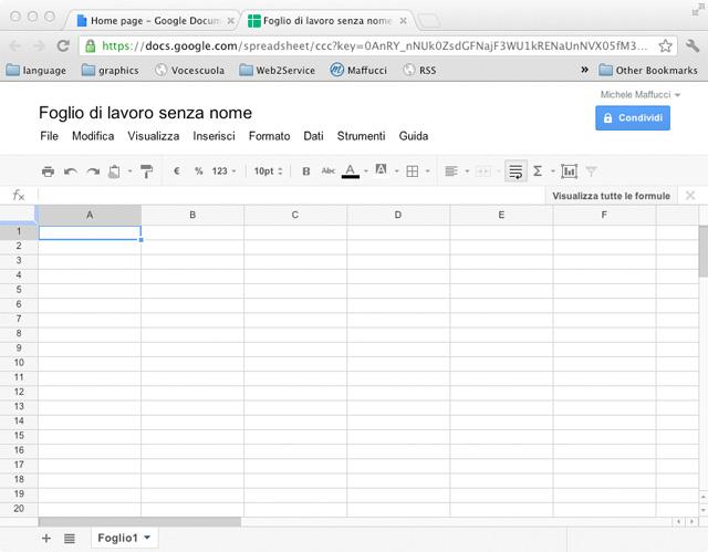 Calendario Per Appunti.Appunti Del Corso Introduttivo Google Apps Fogli Di Calcolo