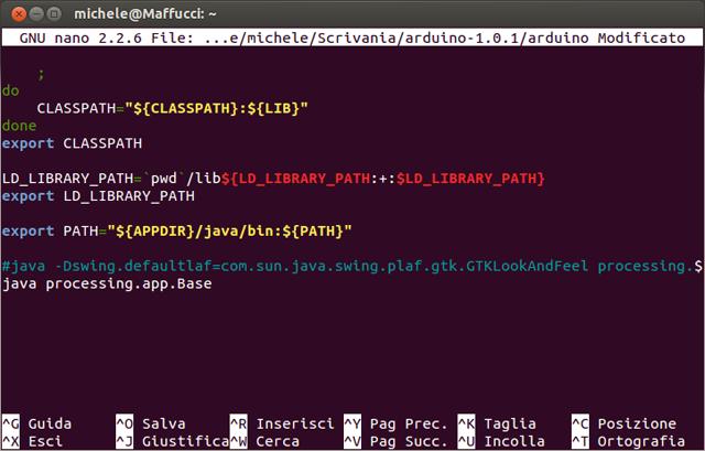 Installare l ide arduino su ubuntu michele