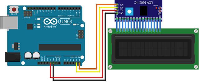 LCD 1602 blu display hd44780 i2c Schermo Visualizzazione 16x2 Arduino Raspberry Pi
